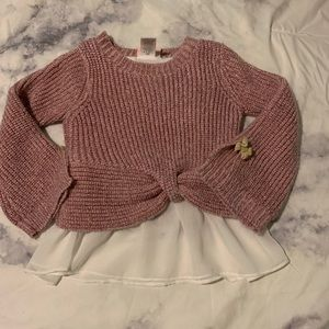 Pink Sparkly Toddler Sweater